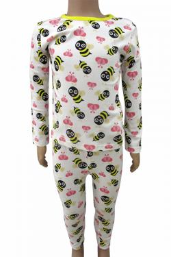 Bee Printed Cotton Night Dress For Kids - (CN-068)