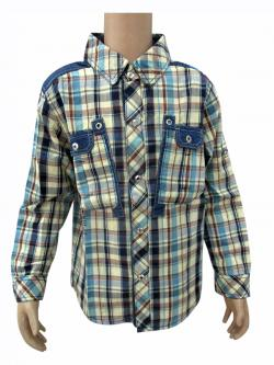 Cotton Check Shirt For Kids - (CN-072)