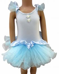Blue Ballerina Dress For Kids - (CN-090)