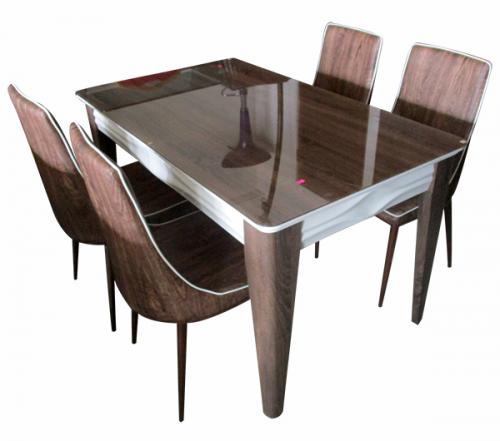 4 Seater Dinning Table Set With Glass Top - (FO-004)