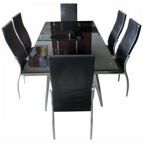 6 Seater Glass Dinning Table Set - (FO-005)