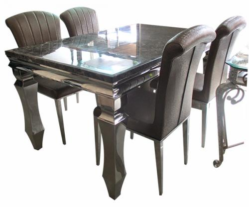 4 Seater Marble Dinning Table Set - (FO-006)