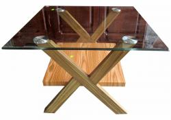 Wooden Glass Side Table - (FO-010)