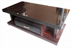 Heavy Wooden Glass Table - (Rectangular) - (FO-019)