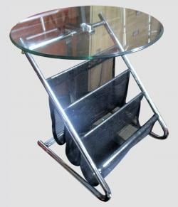 Corner Round Side Magazine Table - (FO-033)