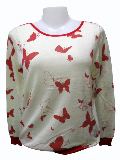 Butterfly Printed Full Sleeve T-Shirt - (EZ-007)