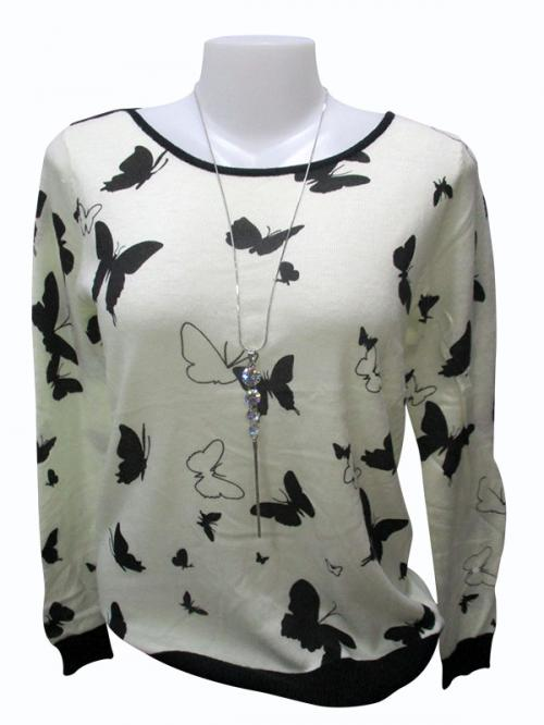 Butterfly Printed Full Sleeve T-Shirt - (EZ-008)
