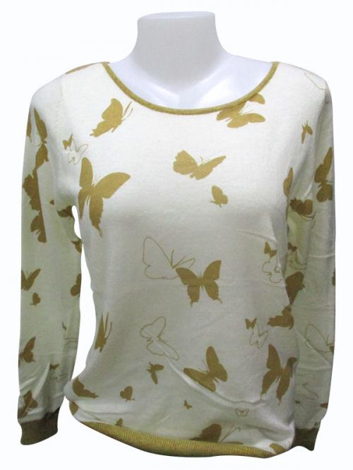 Butterfly Printed Full Sleeve T-Shirt - (EZ-009)
