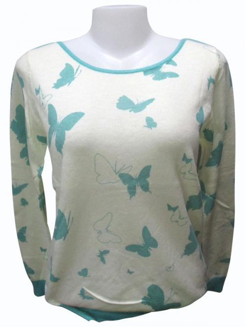 Butterfly Printed Full Sleeve T-Shirt - (EZ-010)