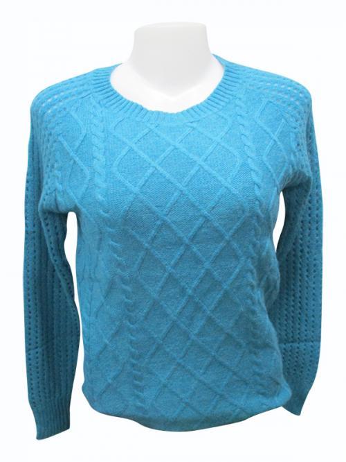 Sweater Style Round Neck Full Sleeve T-shirt - (EZ-018)