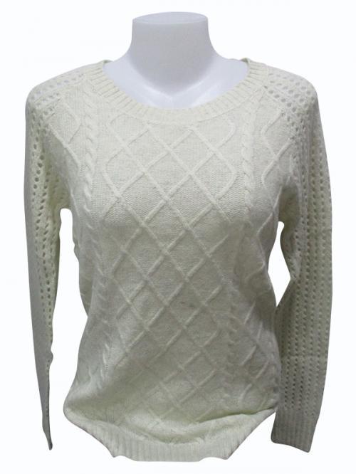 Sweater Style Round Neck Full Sleeve T-shirt - (EZ-020)