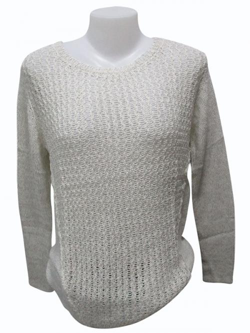 Sweater Style Round Neck Full Sleeve T-shirt - (EZ-022)