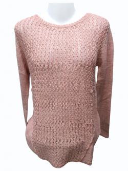 Sweater Style Round Neck Full Sleeve T-shirt - (EZ-023)