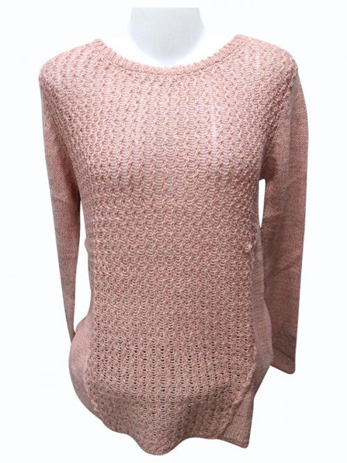 Sweater Style Round Neck Full Sleeve T-shirt - (EZ-023)