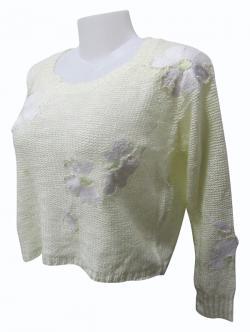Sweater Style Round Neck Full Sleeve T-shirt - (EZ-024)