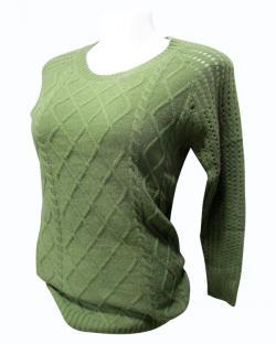 Sweater Style Round Neck Full Sleeve T-shirt - (EZ-031)