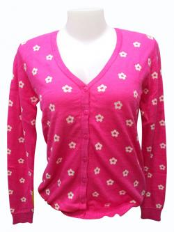 Floral Full Sleeve T-shirt With Buttons - (EZ-035)