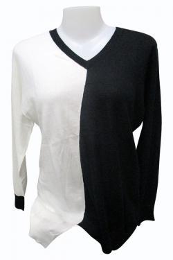 Black & White Full Sleeve Long T-Shirt - (EZ-060)