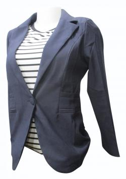 Navy Blue Coat For Ladies - (EZ-075)