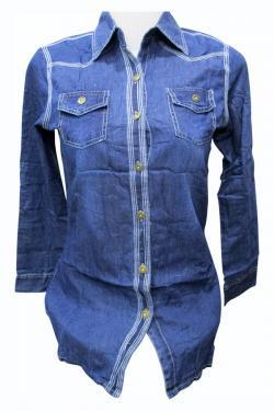 Jaya Jeans Shirt For Ladies - (EZ-079)