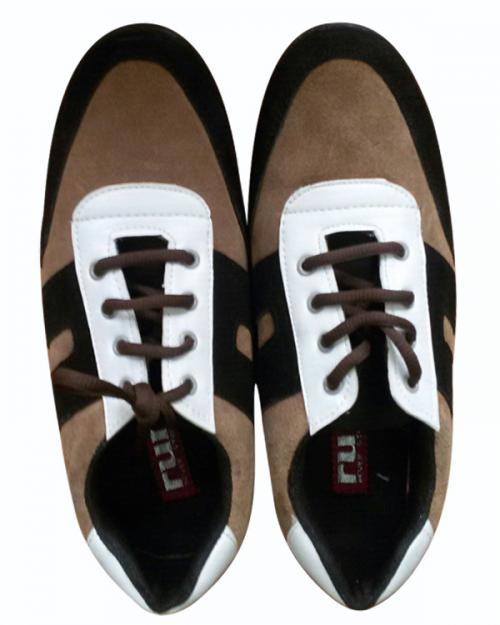 Brown & White Mix Color Shoes For Men - (SH-007)