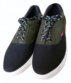 Black & Green Stylish Vans Shoes - (SH-013)