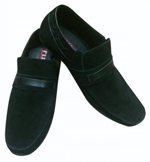 Black Shoes With Leather Strap - (SH-014)