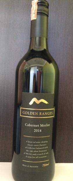 Golden Ranges Cabernet Merlot 2014 - (CAB-001)