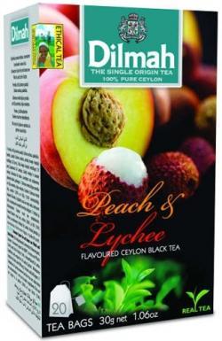 Dilmah Leach & Lychee Ceylon Black Tea 20 Tea Bags - (TP-0256)