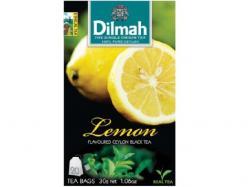 Dilmah Lemon Ceylon Black Tea 20 Tea Bags - (TP-0257)