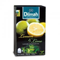 Dilmah Lime & Lemon Ceylon Black Tea 20 Tea Bags - (TP-0258)