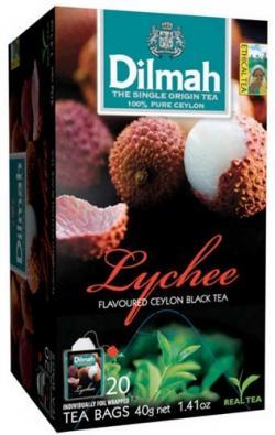 Dilmah Lychee Ceylon Black Tea 20 Tea Bags - (TP-0259)