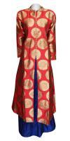 Silk Kurti With Long Skirt - (WM-0012)