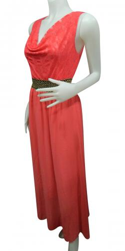 Sleeve Less Long Dress For Ladies - (WM-0025)