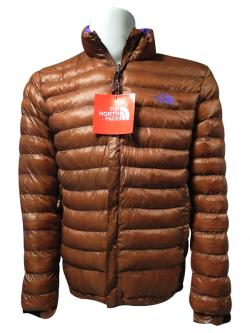 High Copy North Face Brown Down Jacket - (TP-149)