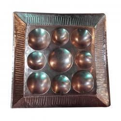 Copper Pooja Thali (Square) - 250gm - (NBN-018)
