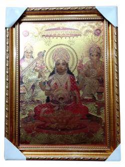 Hindu God Goddess Picture Frame - Laxmi - (NBN-043)