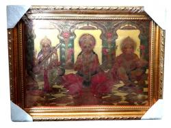 Photo Frame - Ganesh Laxmi & Saraswati - (NBN-044)