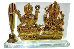Statue Of Ganesh & Laxmi - Gold - (NBN-045)