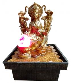 Golden Color Statue Of Laxmi - (NBN-049)