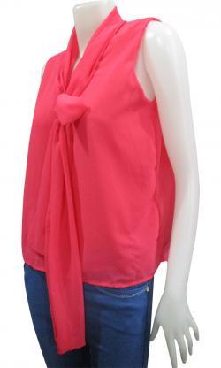 Sleeve Less Chiffon T-Shirt - (WM-0038)