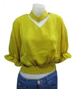 Fancy Crop T-Shirt For Ladies - (WM-0041)