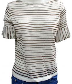 Cotton Striped T-Shirt For Ladies - (WM-0044)