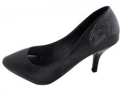 Black Pencil Heel Sandals - (WM-0064)