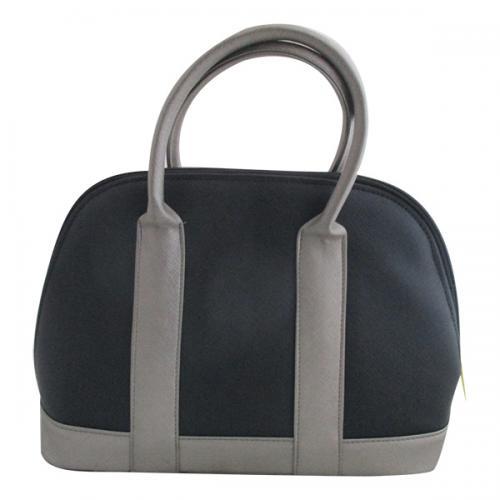 Black & Grey Colored Handbag For Ladies - (WM-0079)