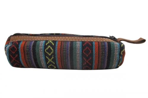 Cotton / Leather Pencil Case - (SOU-013)