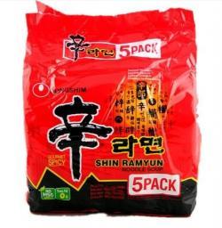 Nong Shim Shin Ramyun 5 Pack (TP-0057)
