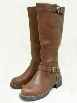 Fashionable Brown Ladies Long Boot - (6688)