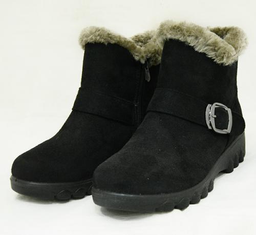 Ladies Suede Black Boot - (925)