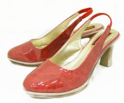 Red Front Closed Ladies Shoes - (120)